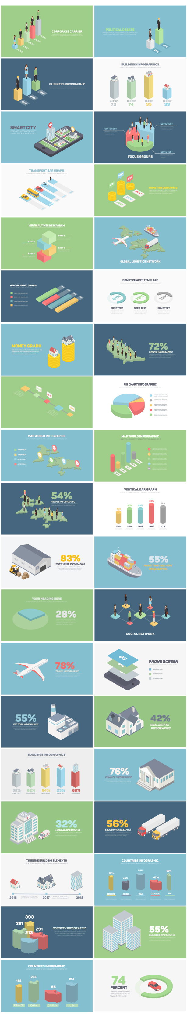 Isometric Infographics - 3