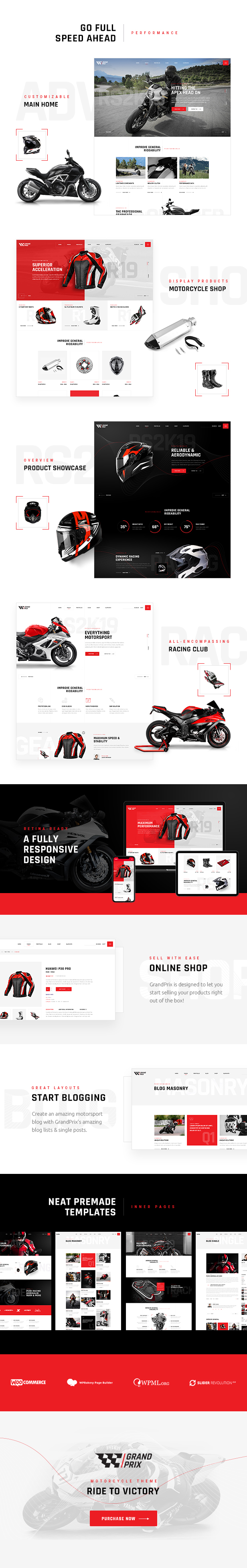 GrandPrix - Motorcycle WordPress Theme - 1