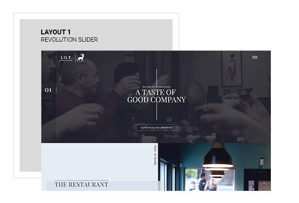 Lily | One Page Restaurant WordPress Theme - 1
