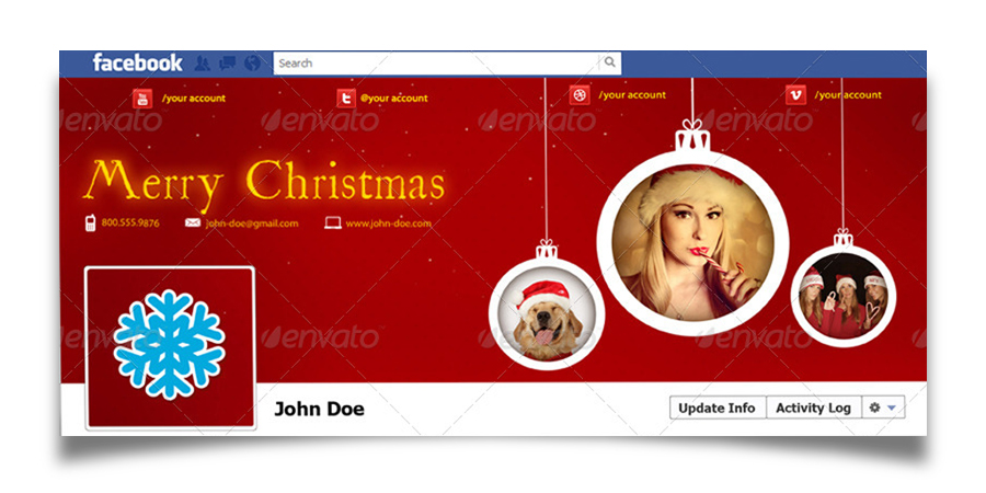Christmas Real Estate Twitter Cover - 18