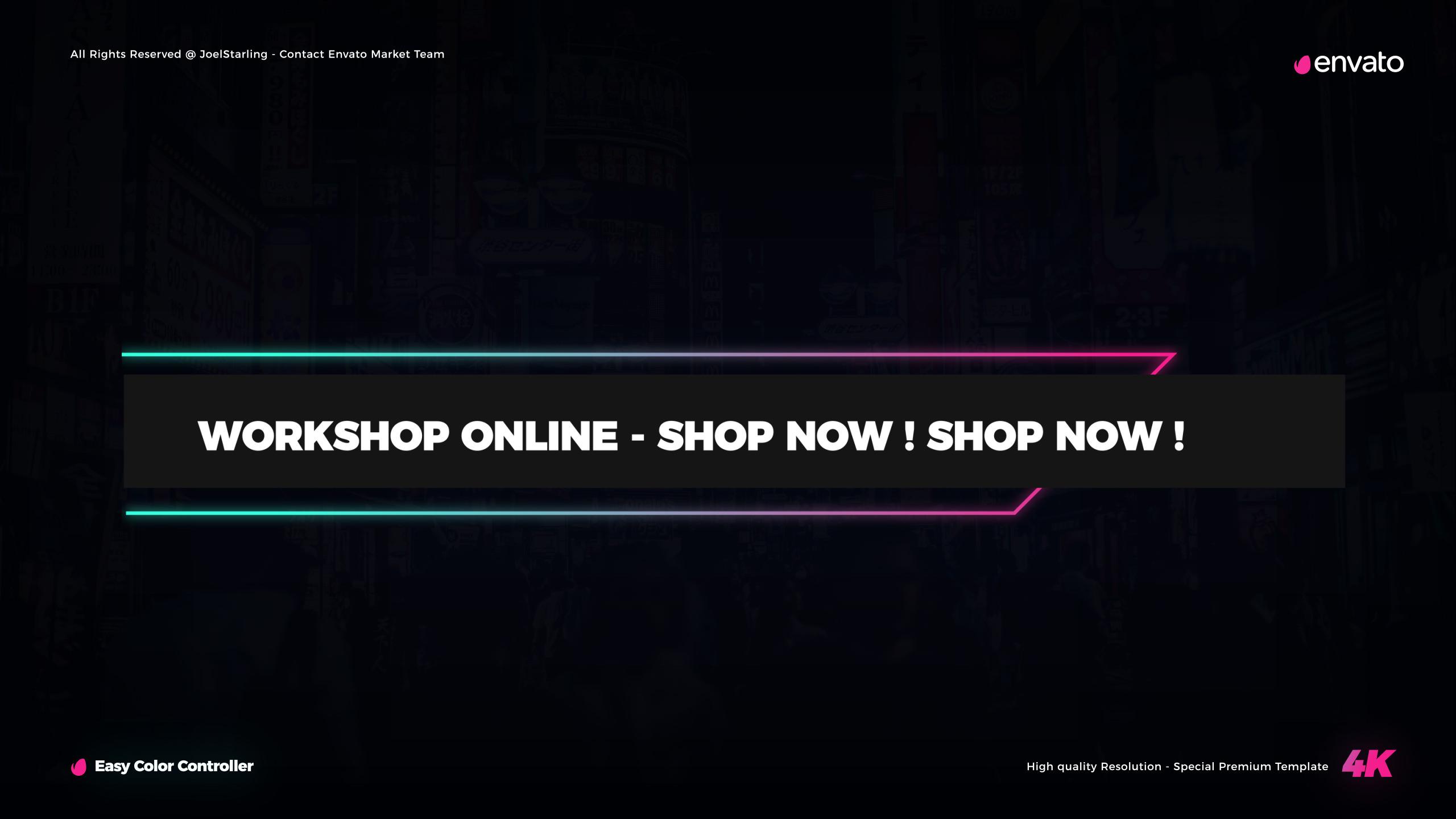 Neon Lights Titles for Final Cut Pro X - 15