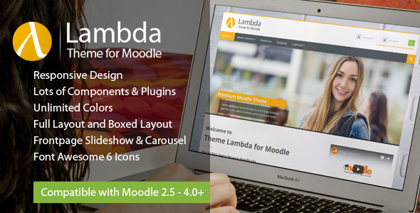 Theme Lambda for Moodle - large preview