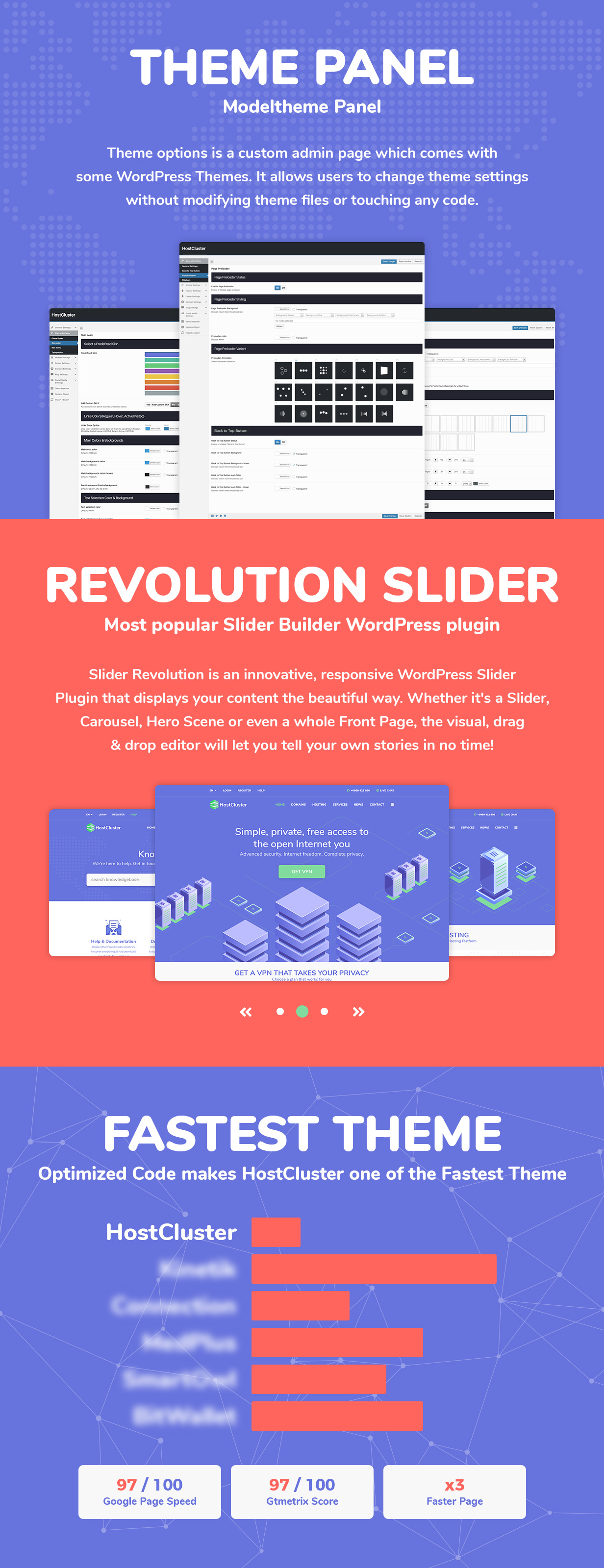 HostCluster - WHMCS Server & Hosting WordPress Theme - 4