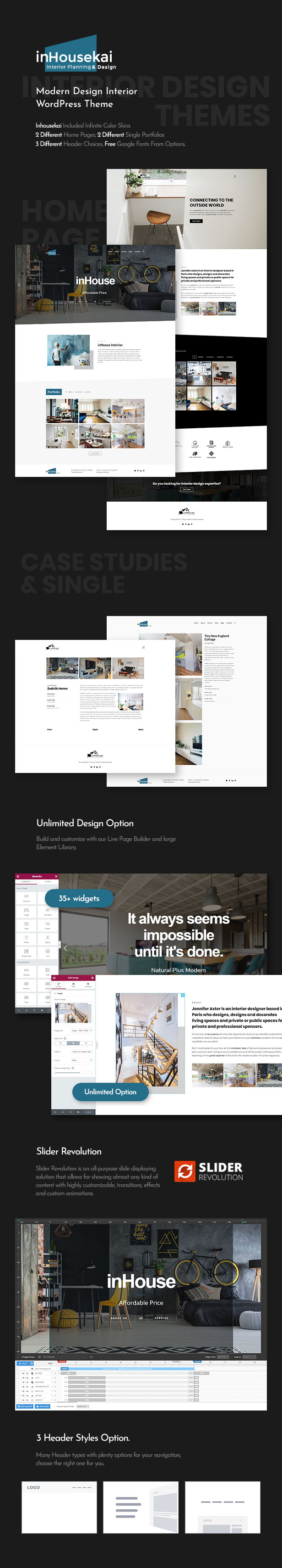Inhousekai | Modern Design Interior WordPress Theme by themesawesome