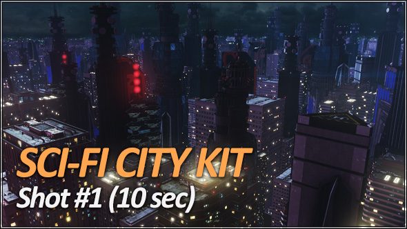 Sci-Fi City Pack - Establishing Shots - 3