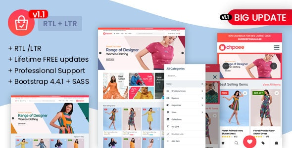Chpoee - Bootstrap E-Commerce Template - Corporate Site Templates