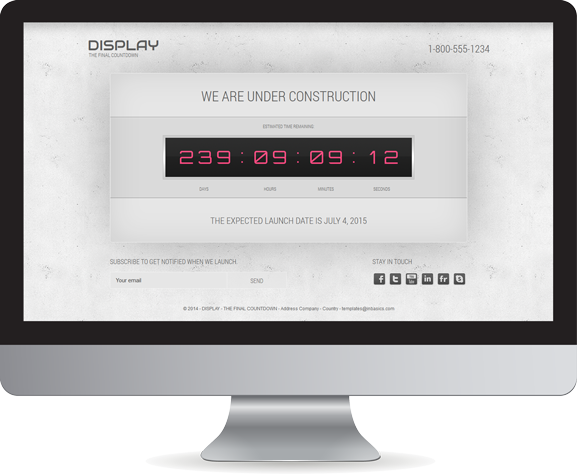 Display, the final countdown v 1.7