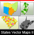 United States Vector Maps Second Bundle