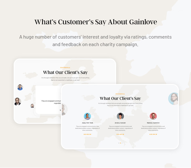 Gainlove Nonprofit WordPress Theme - Customer's Review