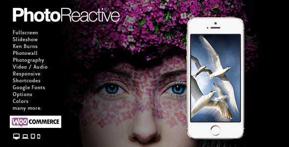 PhotoReactive - Fullscreen Studio for WordPress - Photography Creative