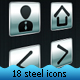 18 Steel Icons Package