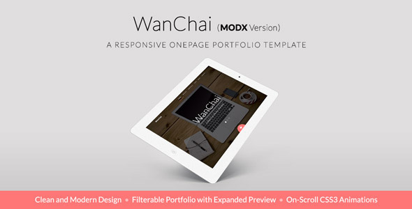 WanChai - Responsive Onepage Portfolio