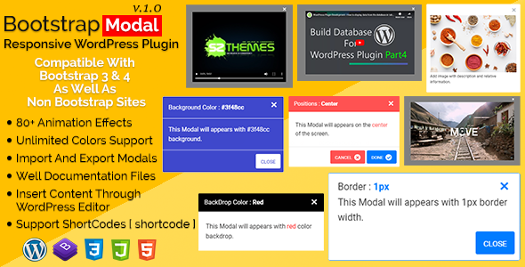 Bootstrap Modal - Responsive WordPress Plugin