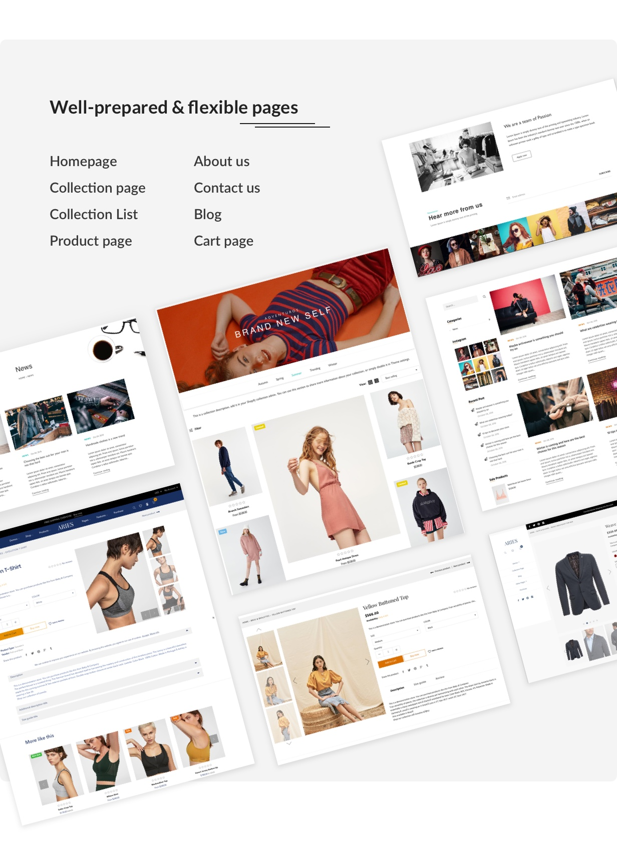 ARIES - Everything for a Shopify Fashion theme - 5