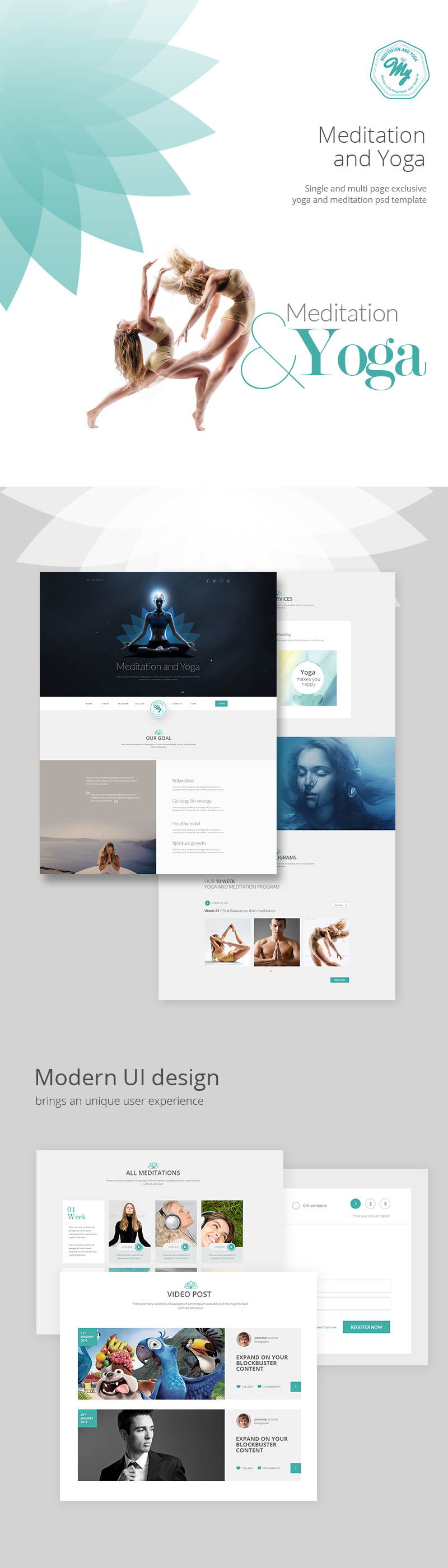 Meditation and Yoga | Multipurpose PSD Template by 0effortthemes ...