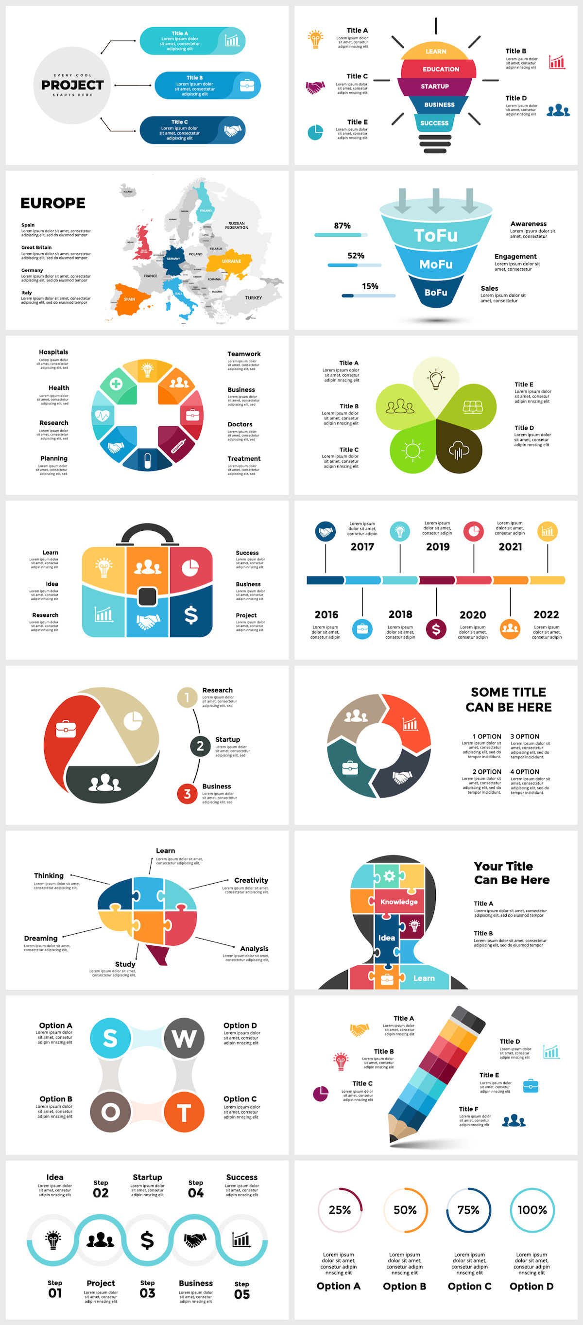 Huge Infographics Bundle! Lifetime Updates! PowerPoint, Photoshop, Illustrator. - 30
