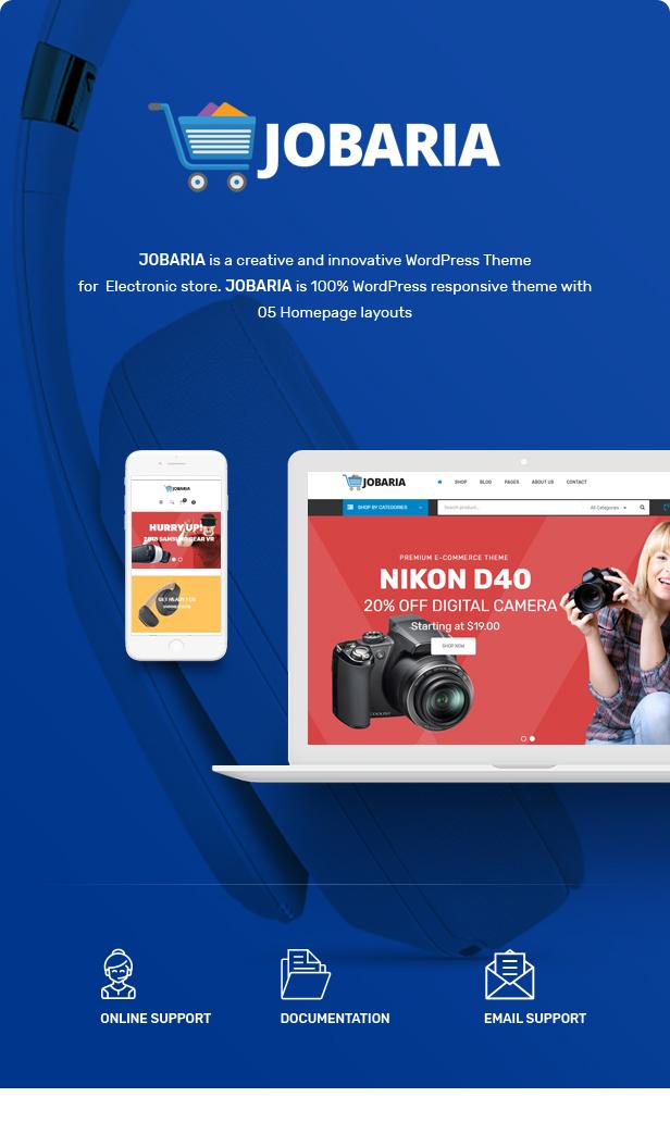 Jobaria - Technology Theme for WooCommerce WordPress 3