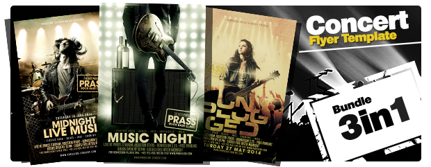 Music World Tour Flyer Template - 3