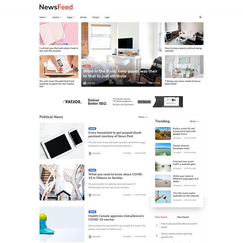 Newsfeed - Responsive News Magazine Bootstrap 5 Jekyll Theme - 6