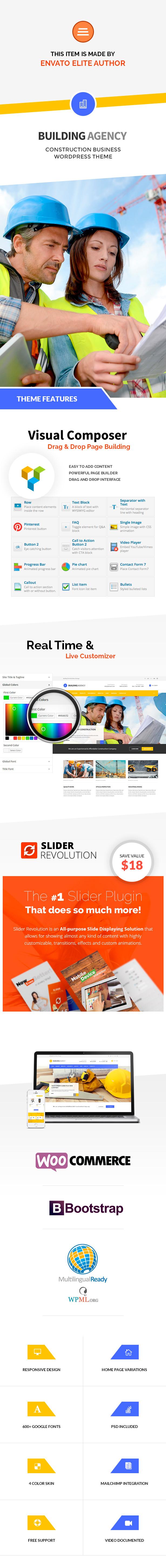 Building Agency - Construction WordPress Theme - 1