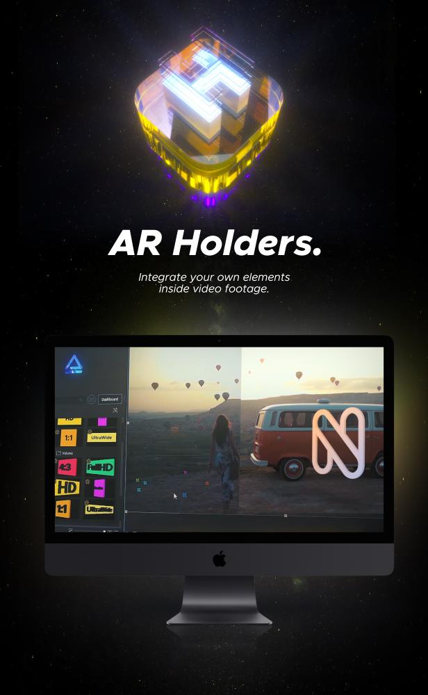 AE脚本-500多个人工智能高科技科幻HUD元素RGB光束烟雾描边效果AR动画工具包 AR Tools for Win/Mac破解版 V3插图3