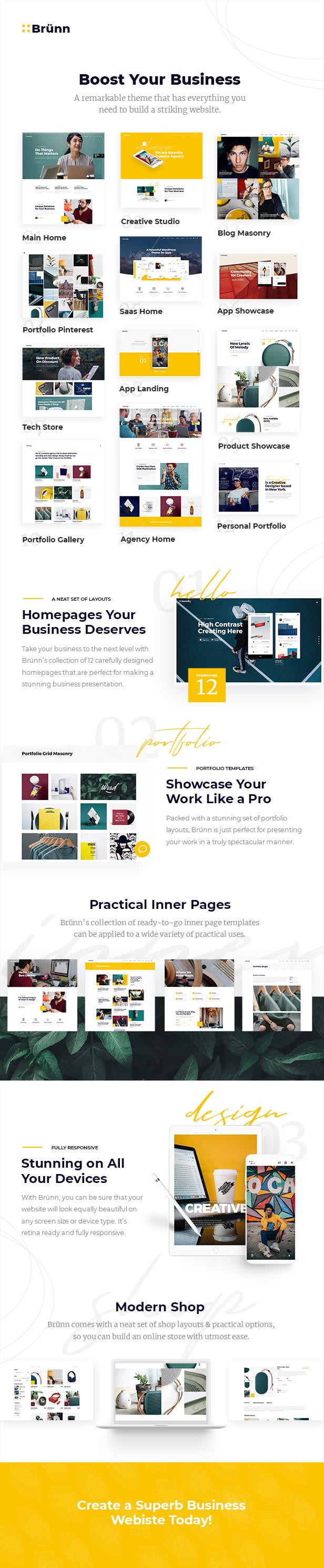 Brünn - Creative Agency Theme - 1