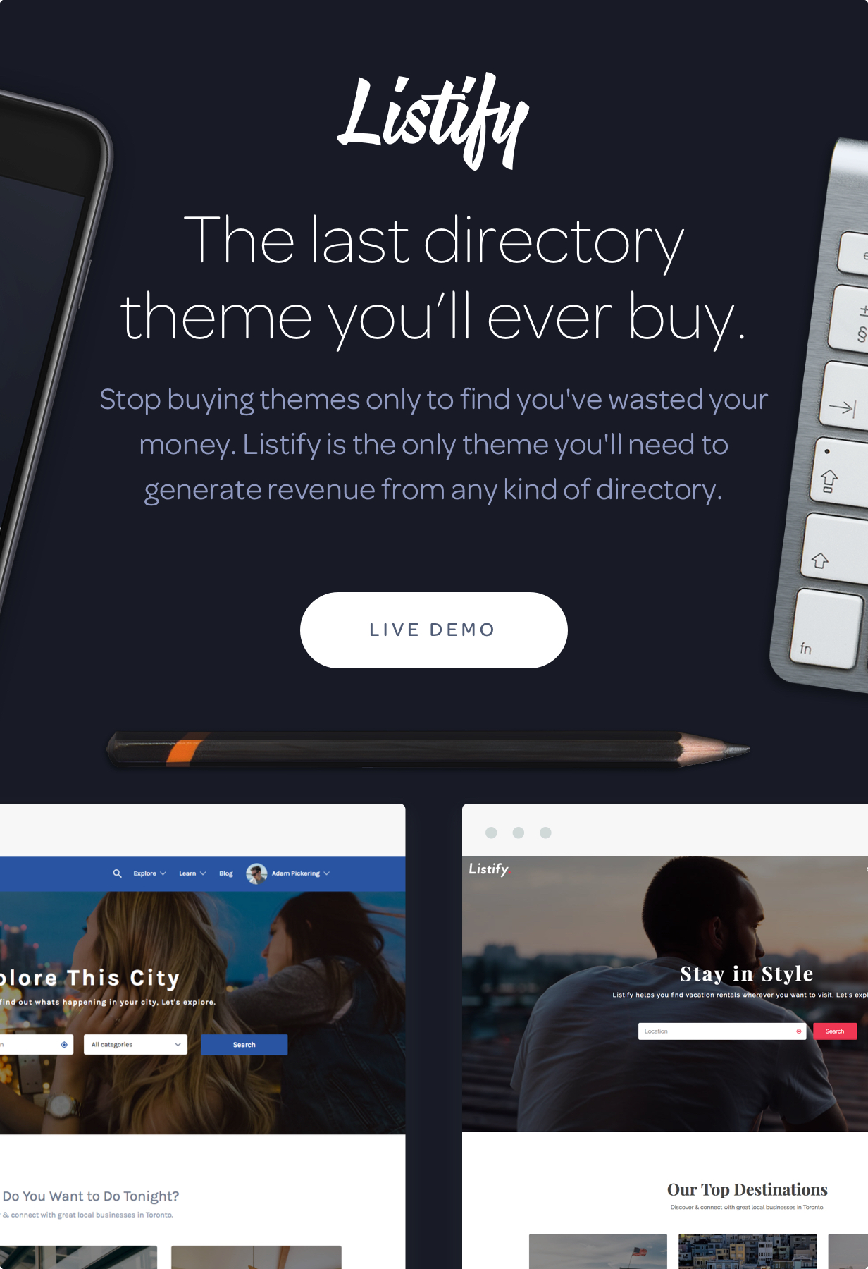 Listify - Directory WordPress Theme by Astoundify | ThemeForest