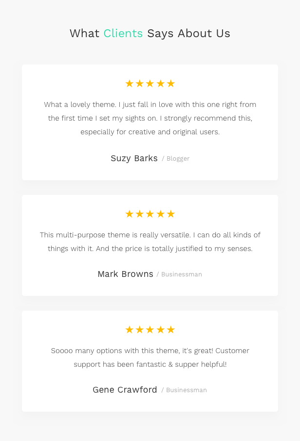 Corporate Business Agency WordPress Theme - 5 star rating