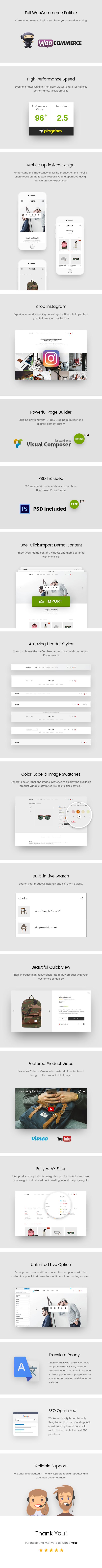 Unero - Minimalist AJAX WooCommerce WordPress Theme - 10