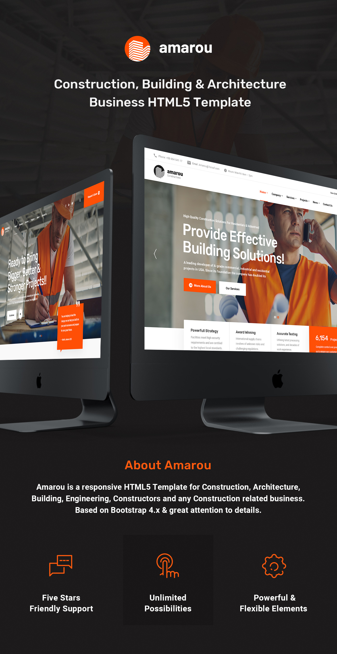 Amarou - Construction and Building HTML5 Template - 5