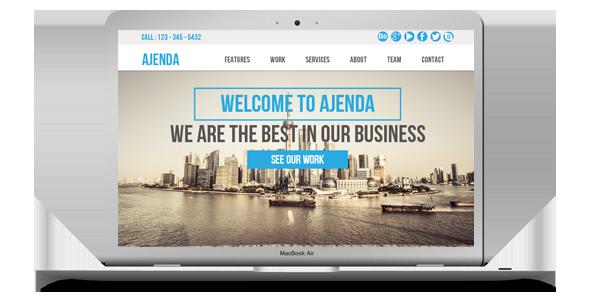 Ajenda - Multi-purpose One Page Muse Template - 5