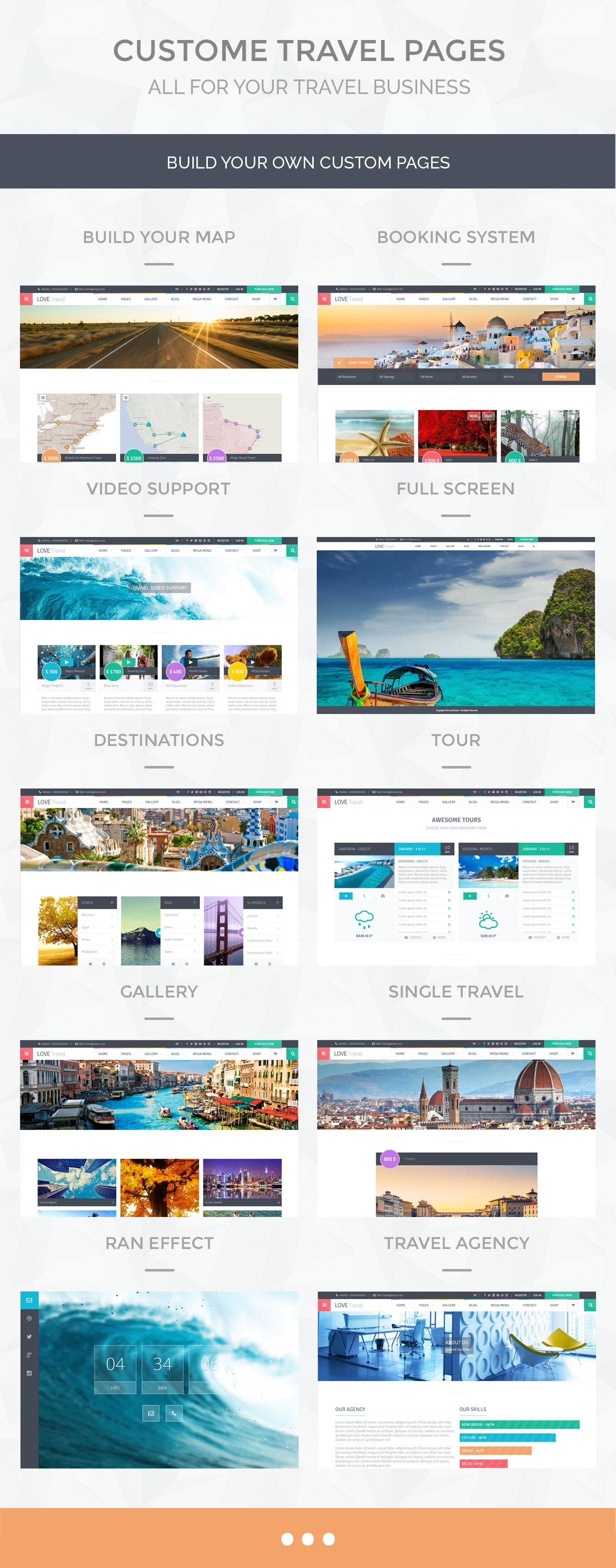 Love Travel - Creative Travel Agency WordPress - 7