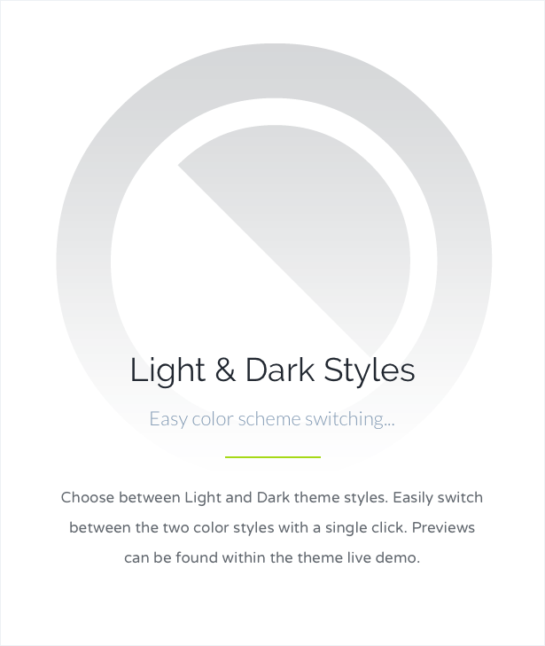 Light and Dark Color Styles
