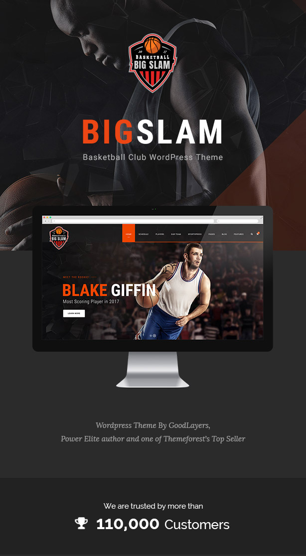 Big Slam Sport Clubs - Basketball WordPress - 1