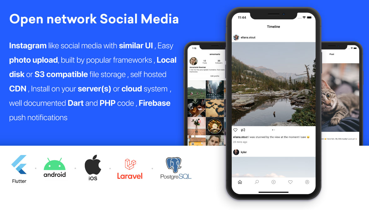 PicShare — Instagram like self hosted social media application - 1