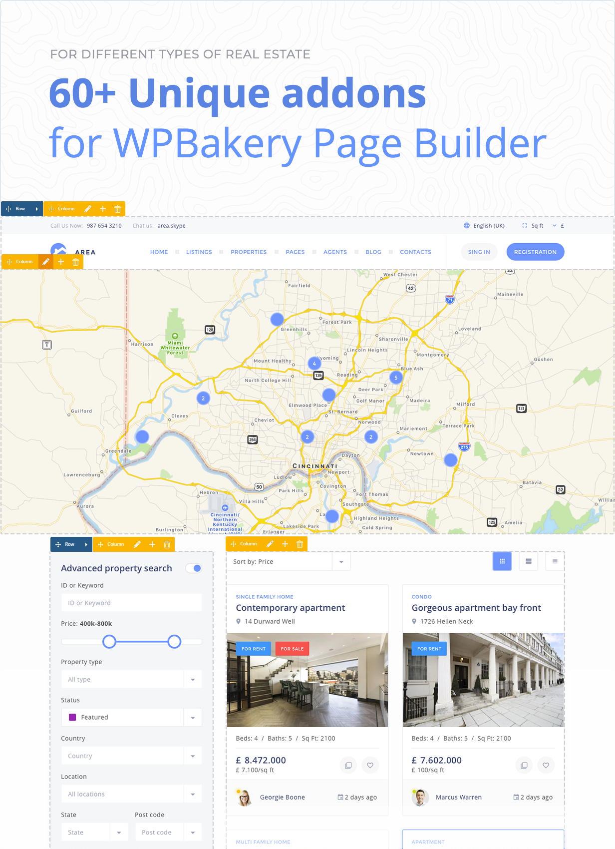+60 Unique addons for WPbakery Page Builder
