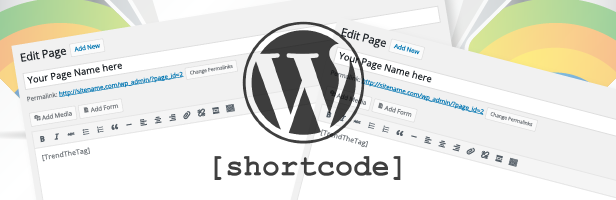 Wordpress Trending Tags Short Codes Based