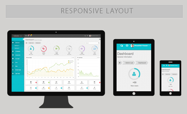 Google Calendar Responsive Design : Admin lab responsive dashboard template by