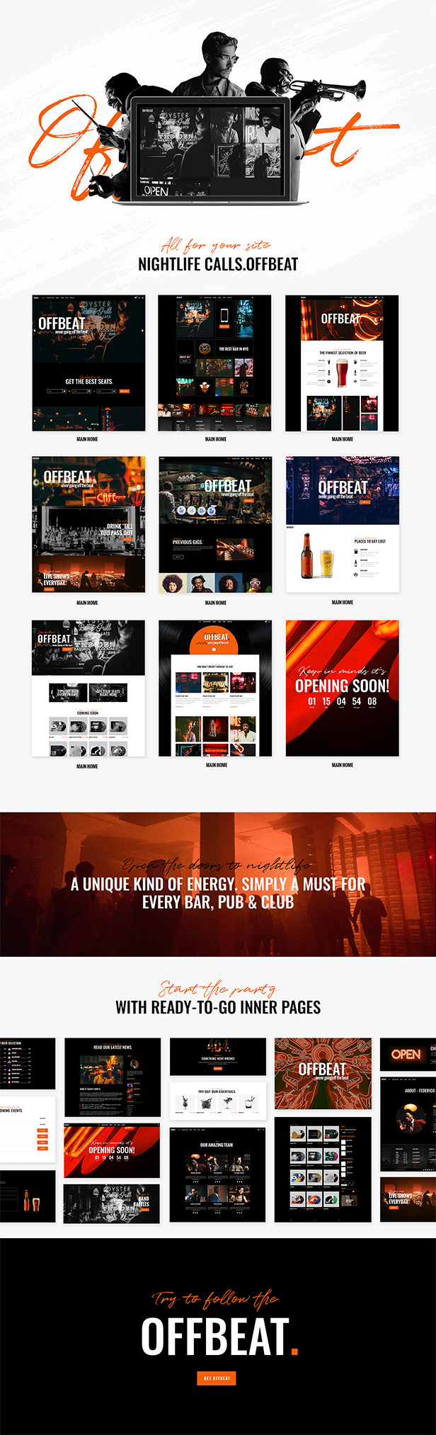 Offbeat - Nightlife, Pubs & Concerts Theme - 1