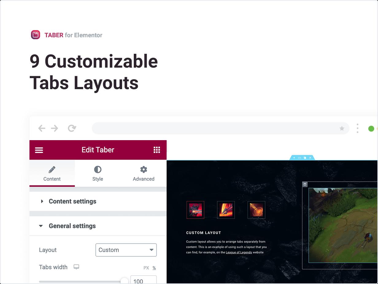 9 Customizable Tabs Layouts