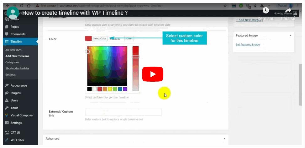 WP Timeline – Vertical and Horizontal timeline plugin - 3