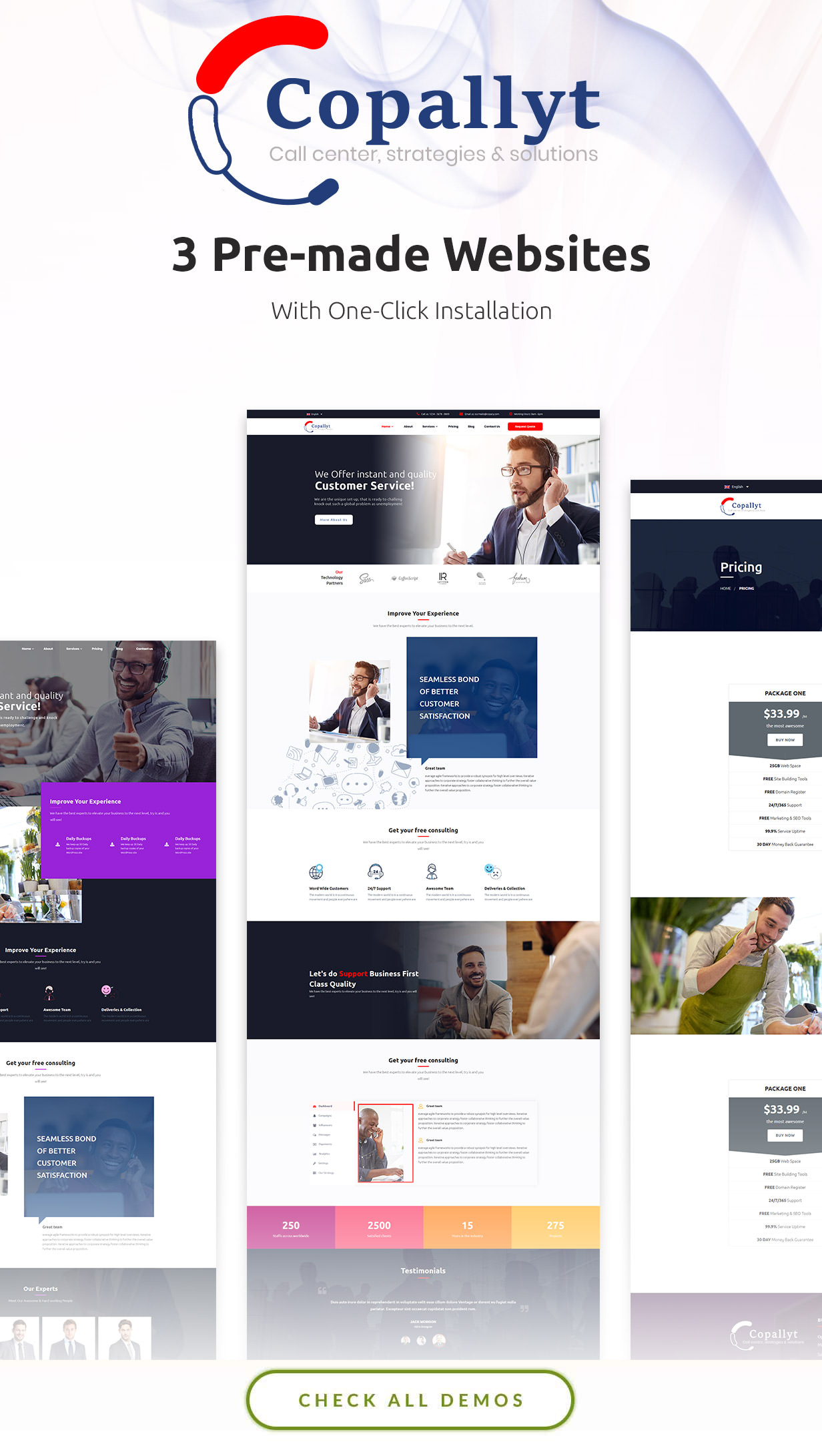 Call Center - Customer Services & Telemarketing WordPress Theme