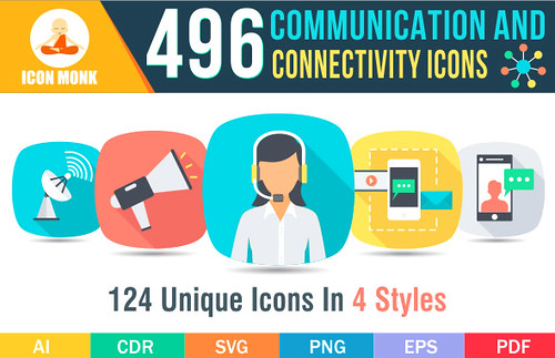 496 Communication icons