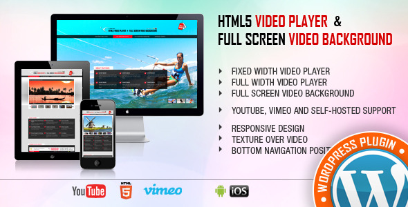 Video Player & FullScreen Video Background - WordPress Plugin
