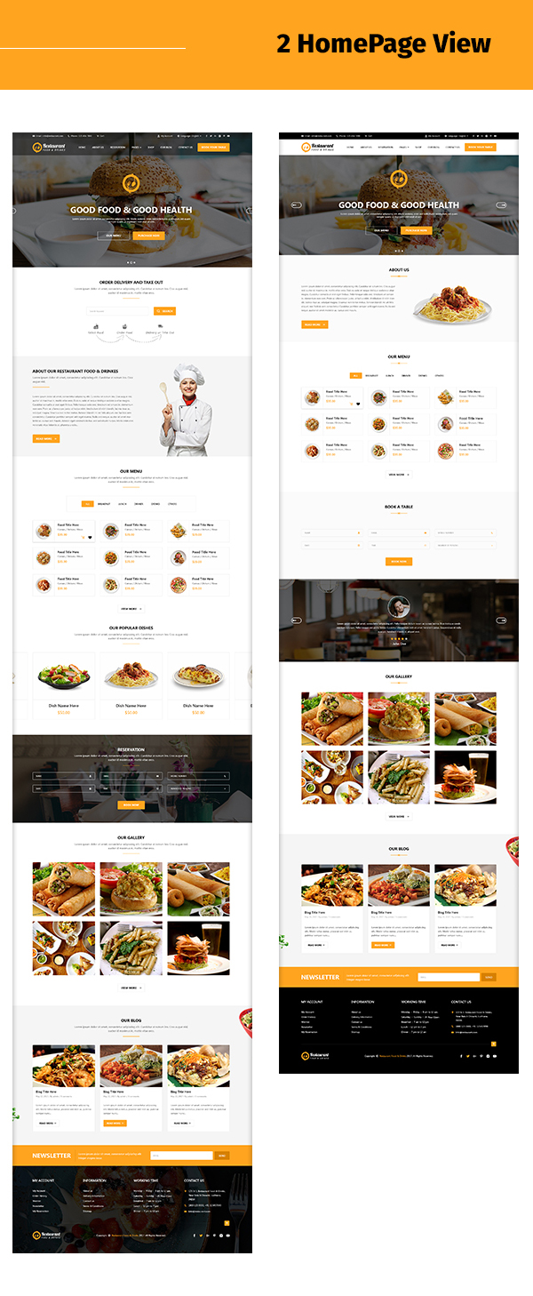restaurant-food-and-drink-template Twoo home page