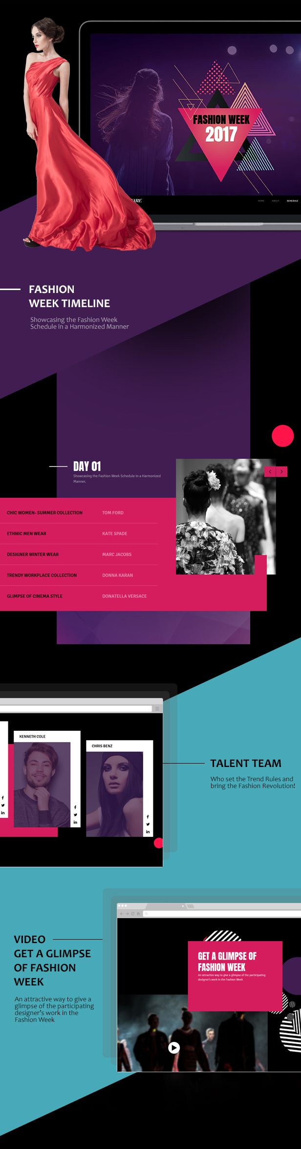 Buzzware - Fashion Week & Beauty Event HTML5 Responsive Website Template - 1