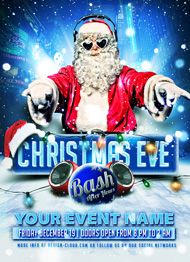 Christmas Eve Bash Flyer Template by Design Cloud