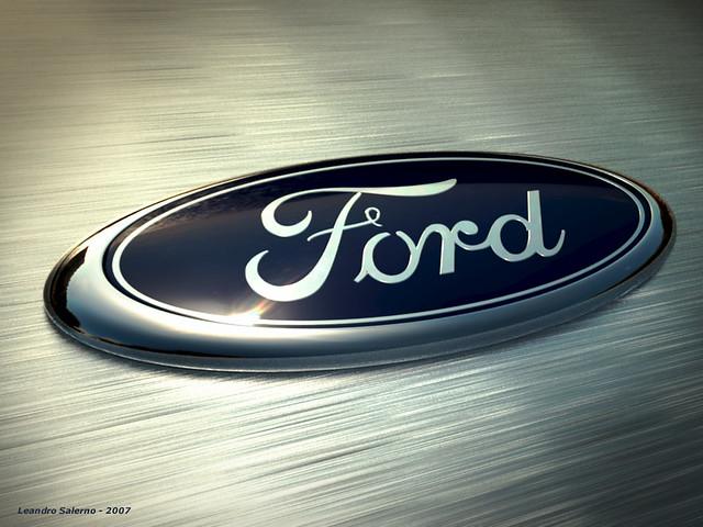 3D Ford Logo atardecer 1