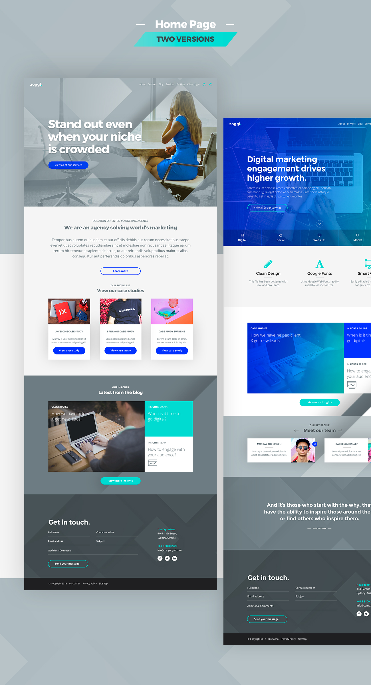 Zoggl - Multi-purpose Website PSD - 2