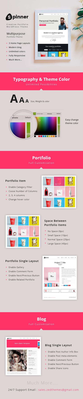 Spinner - Creative Portfolio WrodPress Theme - 2